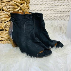 Fly London Open Toe Leather Boots